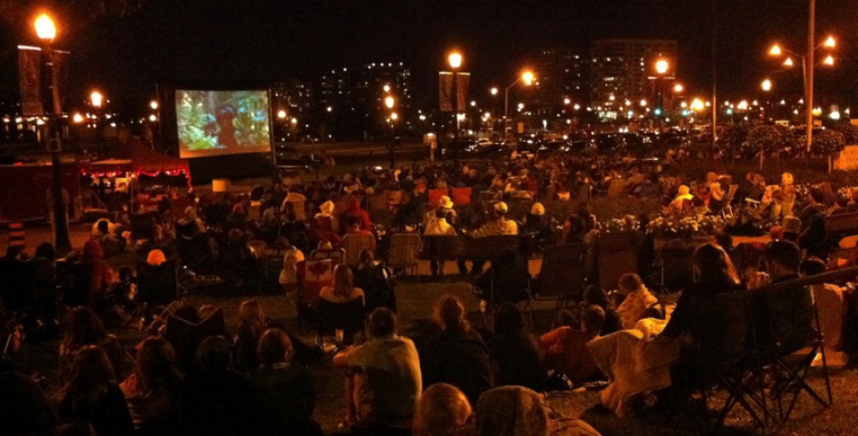 BFF Outdoor screening at Memorial Square